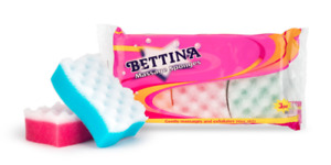 Bettina 3 Pack Massage Sponges - For Use In Bath Or Shower.