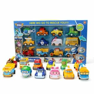 Kids Toys Anime Action Figures Gas Station Anba Car Toy Robocar Poli Metal Model
