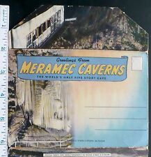 1940s Meramec Caverns Stanton MO, Cars at Cave Entrance, ABomb Shelter, Ragonite