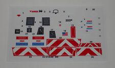 GI Joe Weapon Transport Sticker Decal Sheet