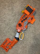 Nerf Zombie Scravenger Blaster Gun w/ Shoulder Stock & Accessories Tested- Works