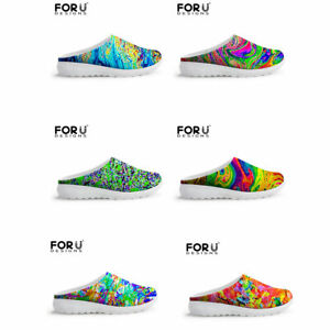 Womens Colorful Sneakers Walking Beach Slipper Casual Fall Spring Lace Up Shoes
