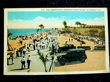 1920's Hollywood Beach and Walk Along Ocean in Hollywood, Fl Florida Pc