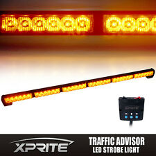 "38"" 36 LED High Intensity Amber Traffic Advisor Flash Strobe Light Bar Kit"