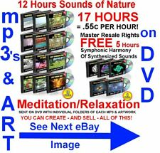 SOUNDS OF NATURE 12 HOURS FREE 5 HOURS RELAXATION MEGA PACK mp3s on DVD MRR CD