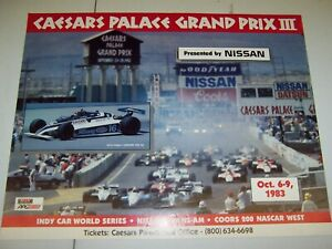 Lot of 5 Indy car grand prix posters Ontario, Cleveland, Caesars Palace LB