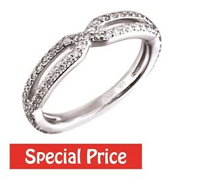 Stackable 14K White Gold 0.46CT Natural Diamond Fancy Wedding Band Jewelry
