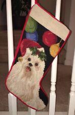 Brand New Dog Needlepoint Christmas Stocking