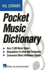 The Hal Leonard Pocket Music Dictionary Book 183006