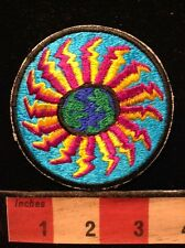 Vintage Patch ~ Possibly Symbolic Earth Sky & Sea ~ Sun Burst Or Starburst 5NB3