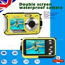 24MP TWO SCREEN UNDERWATER DIGITAL VIDEO CAMERA HD 1080P,10M WATERPROOF,YELLOW