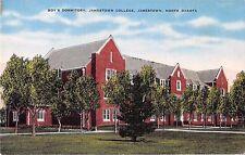 North Dakota postcard Jamestown, Jamestown College Boys Dormitory