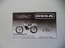advertising Pubblicità 1981 MOTO OSSA 350 TRIAL