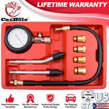 Engine Cylinder Pressure Gauge Diagnostic Tool Compression Tester Kit M14 M18 US