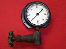 """New listing 3 3/4"""" ~ Ashcroft 30 Psi / Lbs Pressure Gague & Kennedy Brass Valve / Fitting"""