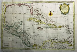 1780  Large Kitchin/Benard Map of the Gulf of Mexico