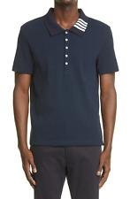 THOM BROWNE 4-Bar Collar Rib Cotton Polo Shirt MJP116A-07063415 Japan MSRP $580