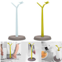 1PC Roll Paper Towel Mug Holder Decorative paper Stand Tree Bird Y Twig Plastic