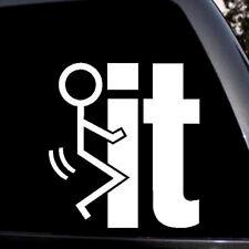 1*Car Sticker Silvery Interesting Personality it Enjoy Loving Emblem Car-Styling