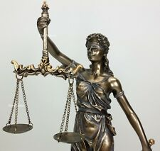 BLIND LADY JUSTICE Scales Lawyer Firm Attorney Statue Office Desk Barrister Gift