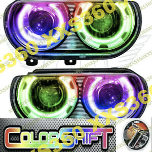 ORACLE Halo HEADLIGHTS (HID Style) for Dodge Challenger 08-14 COLORSHIFT 1.0
