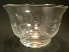 "Vintage Princess House Hand Blown Etched Revere Crystal Bowl 3.25"" x 5"" NIB #384"