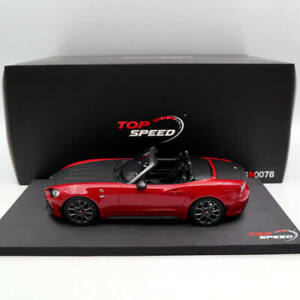 TOP Speed Abarth 124 Spider Costa Brava 1972 Red TS0078 1:18 Limited Edition