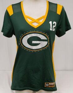 Brand New NFL Women Majestics Green Bay Packers Aaron Rodgers Short Sleeve Shirt