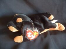TY BEANIE BABY DOBY THE DOBERMAN DOG - INDONESIA - MINT - RETIRED