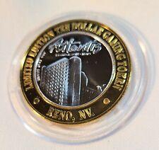 Limited Edition Atlantis (Reno) $10 Ten Dollar .999 Silver Casino Gaming Token