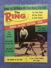 THE RING BOXING VINTAGE MAGAZINE JOE LOUIS  March 1975 MINT UNREAD