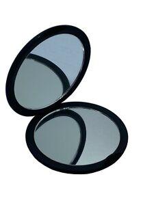 Sisley  Embossed Black Compact Vanity Cosmetic Mirror