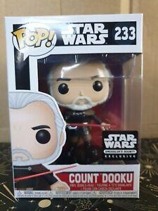 Funko Pop Vinyl - Star Wars #233 Count Dooku - new - Smuggler's Bounty Exclusive