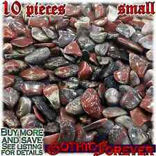 10 Small 10mm Combo Ship Tumbled Gem Stone Crystal Natural - Jasper Starry