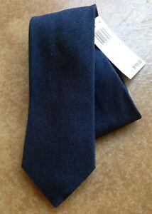New Eton Men's Cotton/Wool/Silk Blend Neck Tie, Navy, One Size