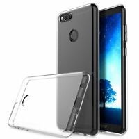Fits  Huawei Honor 7X Case Slim Clear Tpu Silicon Soft Back Cover