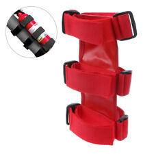 Red Nylon Tie Car Portable Fire Extinguisher Mount Straps for Jeep Wrangler