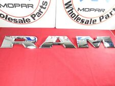 DODGE RAM Limited Chrome Tailgate R A M Letter Nameplates NEW OEM MOPAR