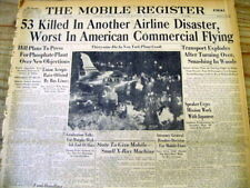 1947 newspaper 53 passengers killed -WORST commercial AIRLINE CRASH to that date