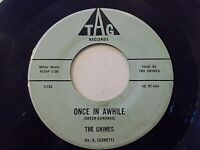 The Chimes Once In Awhile / Summer Night 45 1960 Tag Vinyl Record