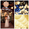 "1/5pcs 6""8""10""12""14"" Lot White Color Paper Lanterns Wedding Party Decoration Hot"