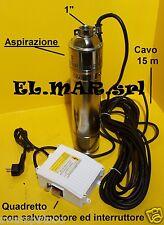 """Pompa Sommersa 4 """" HP 1,5 Elettropompa Periferica acciaio inox 1100W autoclave"""