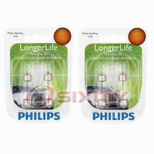 2 pc Philips License Plate Light Bulbs for Jaguar Super V8 Vanden Plas XJ12 bc