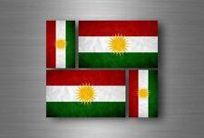 4x adesivi adesivo sticker bandiera vinyl tuning curdi kurdistan curda r1