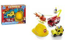 Fireman Sam rescue playset figures helmet helicopter Jupiter Engine vehicle 5PC