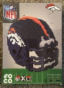 Denver Broncos BRXLZ Team Helmet 3D Toy PUZZLE 1396 Pcs SET NFL Ages 12+ GIFT