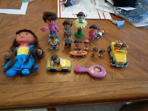 Mattel Dora the Explorer & Diego Doll House Action Figures Toy Lot LOOK