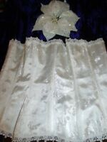 Unbranded White Brocade Style Boned Ribbon Lace Up Suspender Bodice XXXL