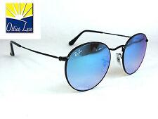 Ray Ban Metal 3447 002/4O Metallo Nero Specchiato Blu Sunglass Sonnenbreille