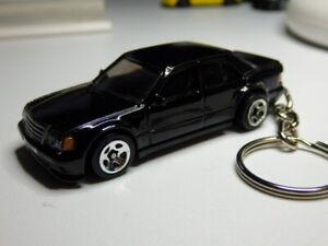Hot Wheels Mercedes Benz 500E Sedan Keychain Keyring